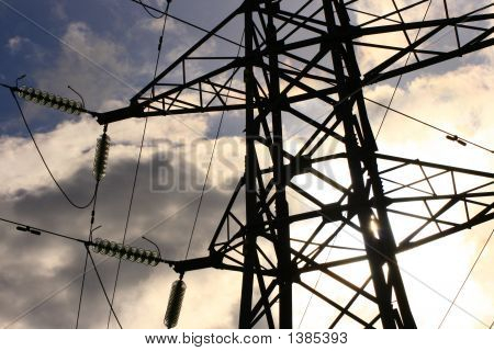 Detail Of Electricity Pylon