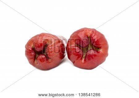 Asian Fruit, Rose Apples Fruit On White Background