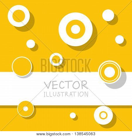 Circle modern business design template. Flat minimalism decoration. Abstract white circle background. Vector illustration.