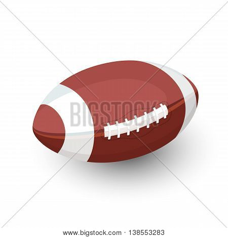 Rugby ball, AFL Football, Vector flat illustration