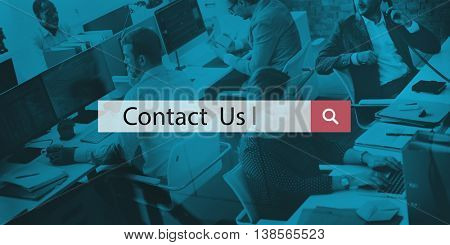 Contact Us Customer Service Support Inquiry Concept