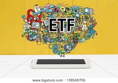Etf Concept With Smartphone