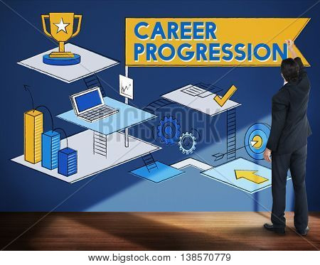 Career Progression Promotion Achievement Success Concept