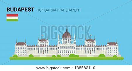 Monuments and landmarks Vector Collection: Hungarian Parliament. Descripción: Vector illustration of Hungarian Parliament (Budapest, Hungary). Monuments and landmarks Collection. EPS 10 file compatible and editable.