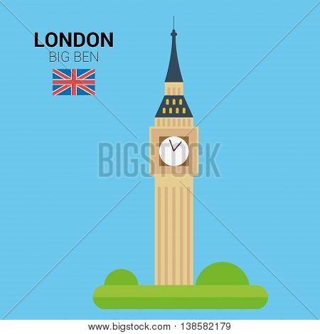 Monuments and landmarks Vector Collection: Big Ben. Descripción: Vector illustration of Big Ben (London, United Kingdom). Monuments and landmarks Collection. EPS 10 file compatible and editable.