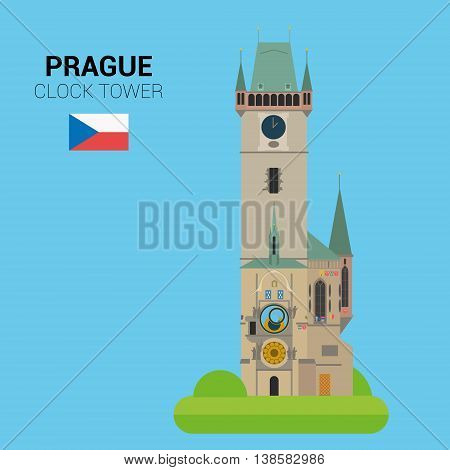 Monuments and landmarks Vector Collection: Astronomical Clock Tower. Descripción: Vector illustration of Astronomical Clock Tower (Prague, Czech Republic). Monuments and landmarks Collection. EPS 10 file compatible and editable.