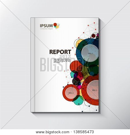 Modern Annual report Cover design vector theme concept, Annual report Cover template