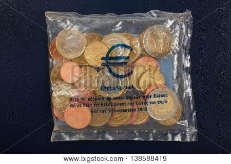 The Greek Euro starter kit. Money concept