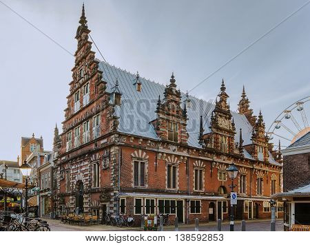 The Vleeshal was built in the years 1602 to 1605 in Haarlem Netherlands