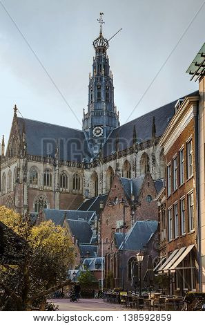 The Grote Kerk or St.-Bavokerk is a Protestant church and former Catholic cathedral located on the central market square in the Dutch city of Haarlem