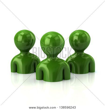 Group Of Green People