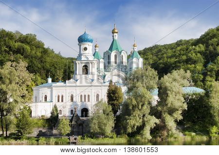 Cathedral of the Assumption and the Holy Church of the Intercession. Sviatohirsk Lavra Ukraine