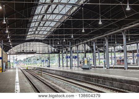 Train Station In Wiesbaden, Germany