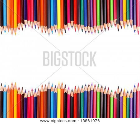 color pencil isolated on white poster