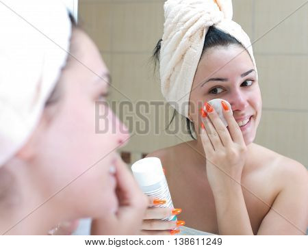 Girl With Facial Mask