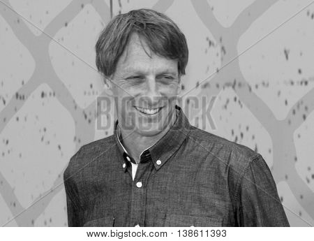 Tony Hawk at the Nickelodeon Kids' Choice Sports Awards 2016 held at the UCLA's Pauley Pavilion in Westwood, USA on July 14, 2016.