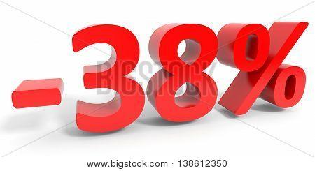 Discount 38 Percent Off Sale.