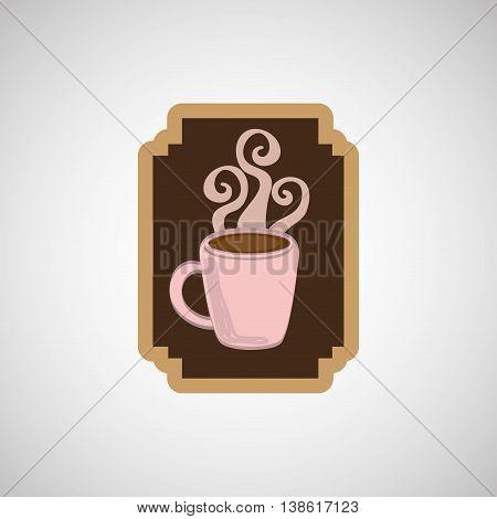 chocolate sugar desert   isolated, vector illustration eps10