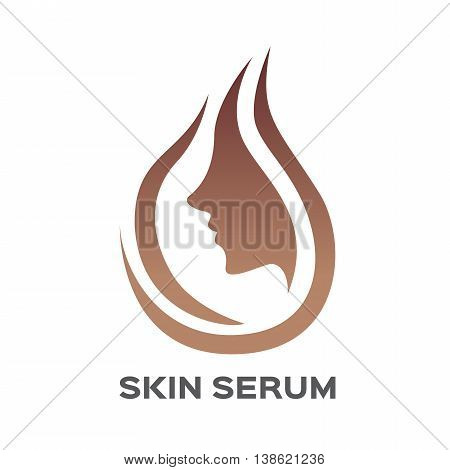 skin serum icon logo and vector , face skin