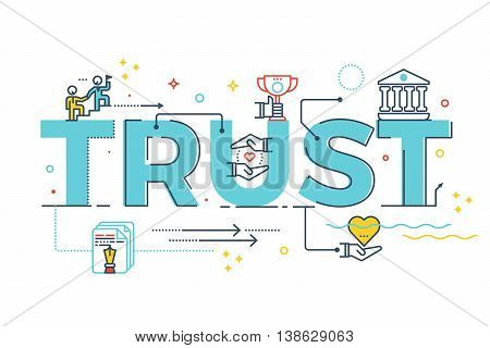 Trust Word Lettering
