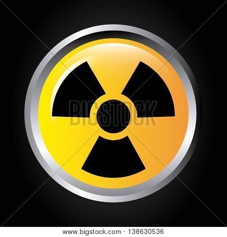 atomic signal button isolated icon design, vector illustration  graphic