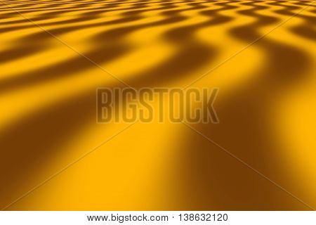 Illustration of brown and orange perspective waves