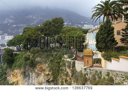 Cliff of Monaco, Monte carlo, French Riviera, Cote d'azur
