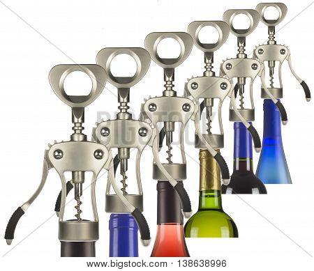 metal corkscrew to open a bottle twist