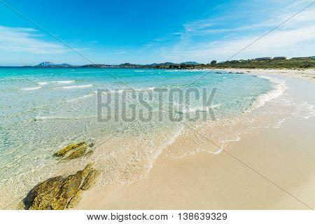 Rena Bianca shoreline in Sardinia in Italy