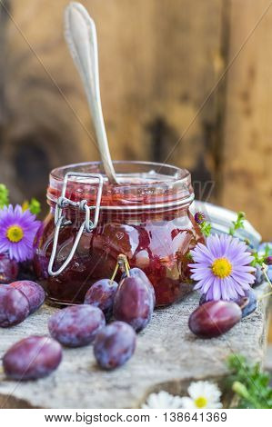 Late Summer Kitchen Jar Plum Jam