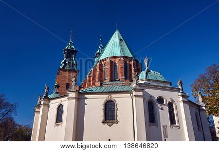 The towers of the Basilica Archdiocese of Gniezno