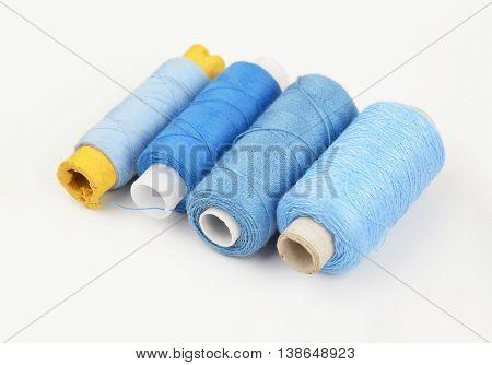 Threads On White Backround