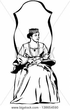 Queen Wearing A Crown