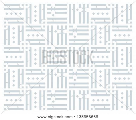 Old Slavonic Letters in Abstract Pattern. Vintage Ligature from Russian Language. Grey Vector Decorative Ornament.