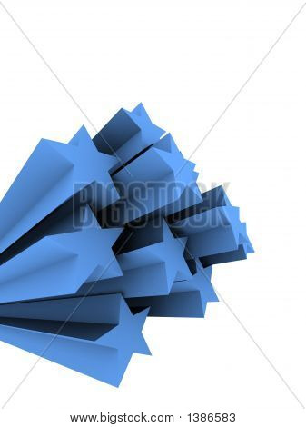 3d rendered illustration of a few blue stars poster