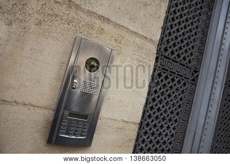 Intercom On A Facade