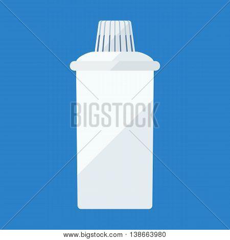 Filter cartridge flat icon for water purifying jar
