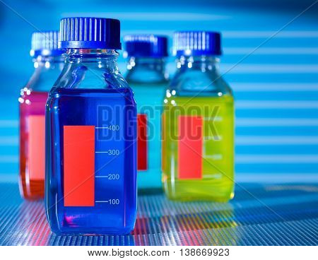 bottle with chemical additives