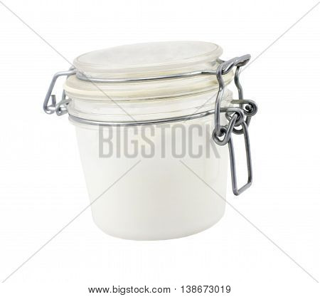 Cosmetic Cream Bottle on Isolated White Background