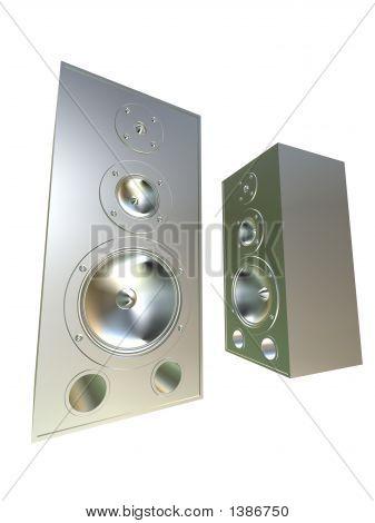 Silver Speakers