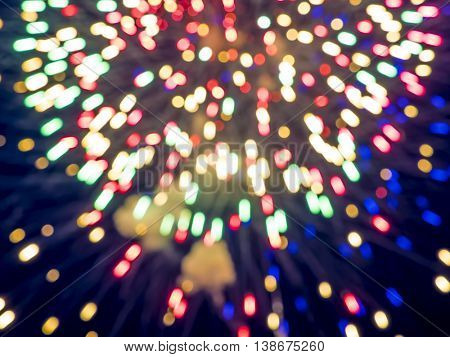 defocused image of fireworks, background with glares