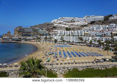 Puerto Rico Beach At Gran Canaria, Spain