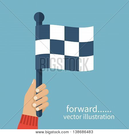 Racing Flag In Hand Umpire