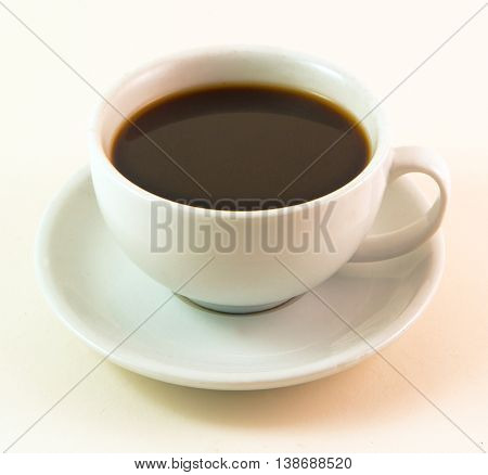 Black Coffee - Cup and Saucer -   This is a perfect and simple image for restaurants, newsletters, brochures, etc.  - An inviting image of the beverage of choice - Hot or cold.