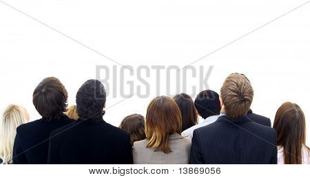 group people isolated on white background