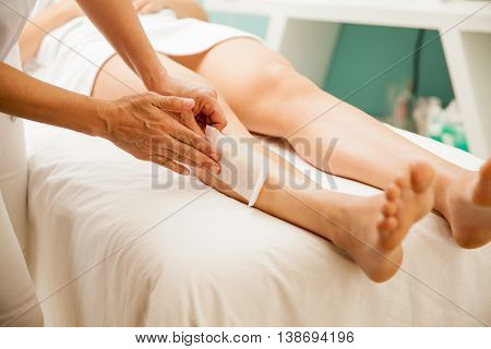 Hair Removal At A Health And Beauty Spa