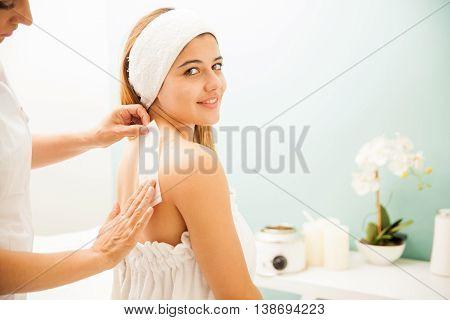 Hair Depilation At A Beauty Spa
