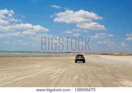 Dune buggy on the beach near Jericoacoara