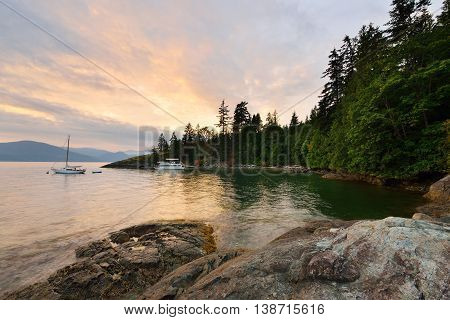 Kelvin Grove Beach sunset - Lions Bay BC