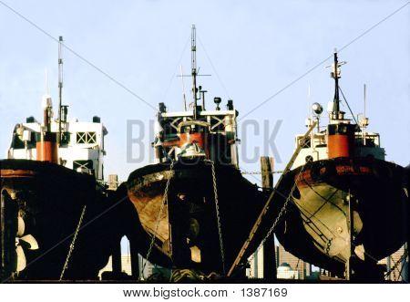 Three Tug Boats